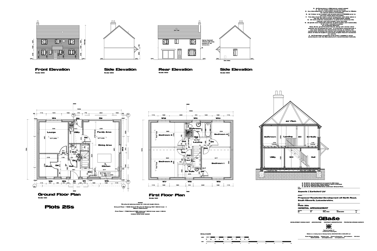 Mill Fields South Kilworth Plot 25 The Shaftsbury Plans